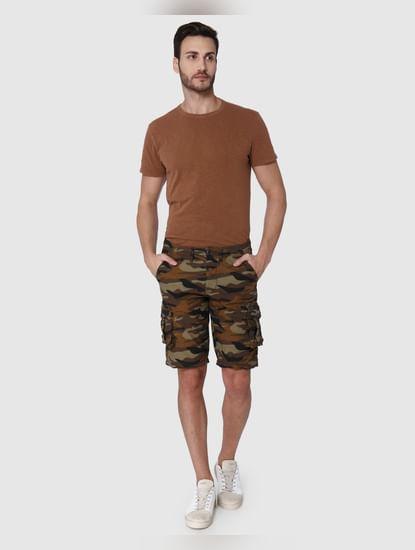 Brown Camo Cargo Shorts