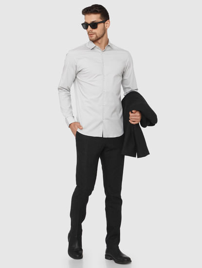 Grey Slim Fit Formal Shirt