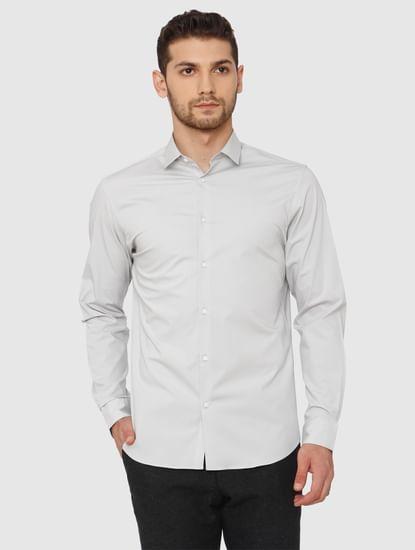 Grey Slim Fit Formal Shirt