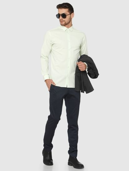 Light Green Slim Fit Formal Shirt
