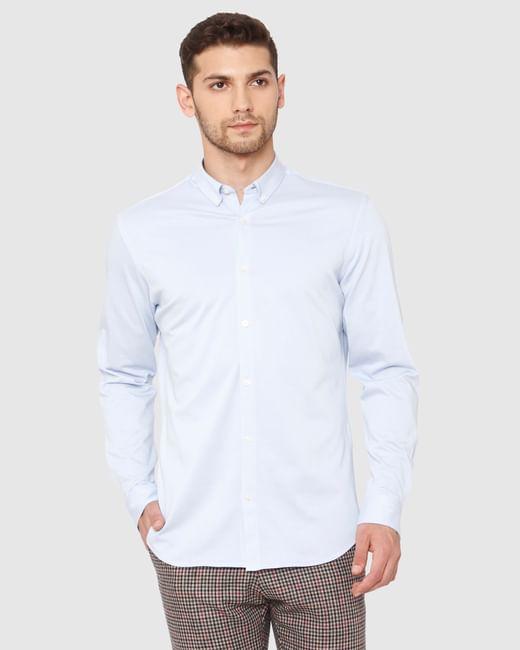 Light Blue Slim Fit Full Sleeves Shirt