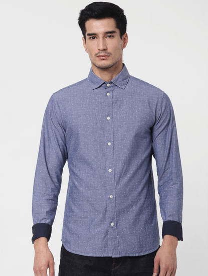 Blue Washed Full Sleeves Shirt