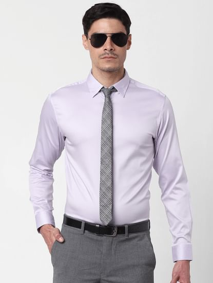 Orchid Ice Full Sleeves Slim Fit Shirt