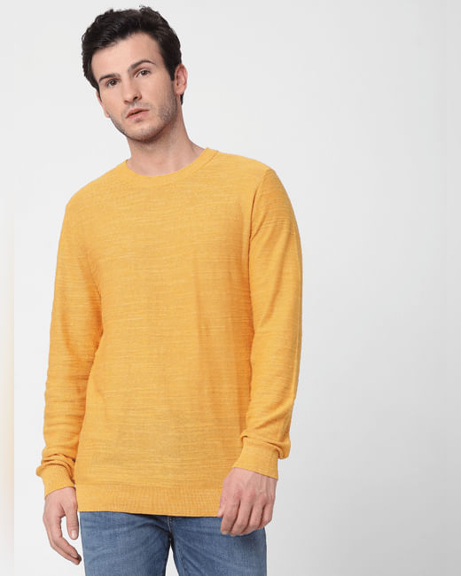 Yellow Knit Pullover