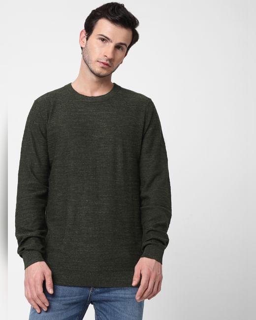Dark Green Knit Pullover