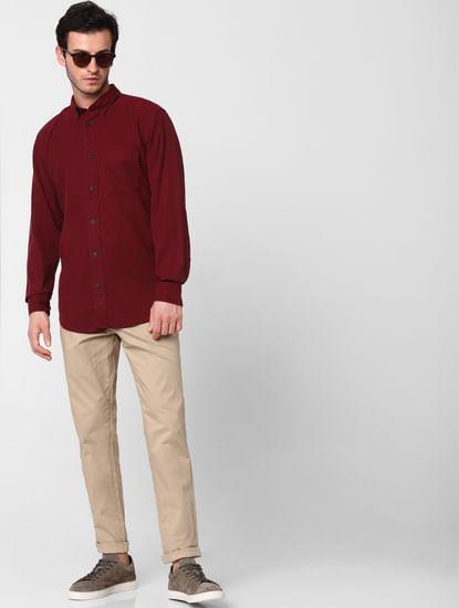 Maroon Full Sleeves Shirt