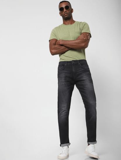 Grey Faded Toby Tapered Fit Jeans