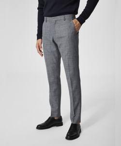 Grey Formal Slim Fit Trousers