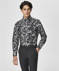 Black floral print Full Sleeves Shirt