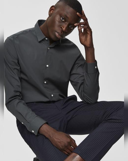 Dark Grey Formal Full Sleeves Shirt
