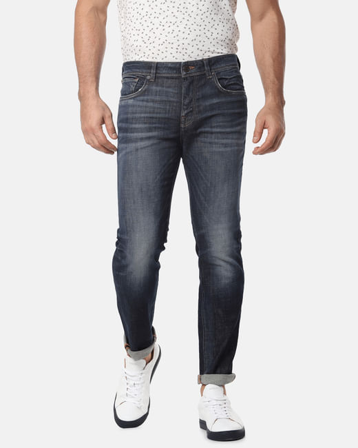 Blue Heavy Fade Leon Slim Fit Jeans