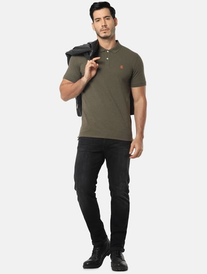 Black Mid Rise Scott Straight Fit Jeans
