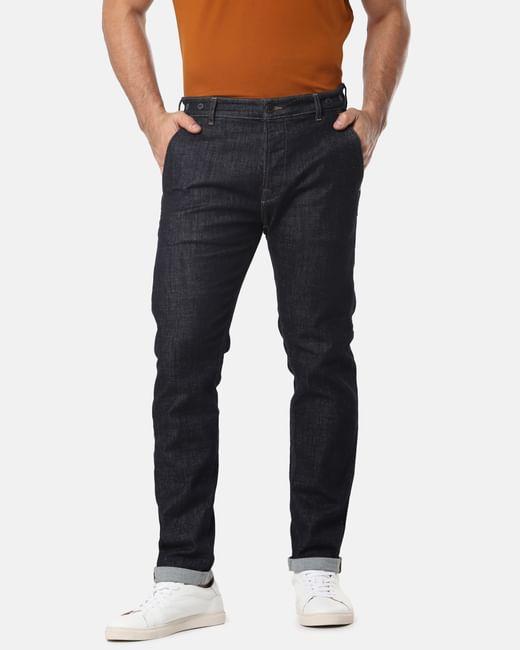 Dark Blue Nick Slim Tapered Fit Jeans