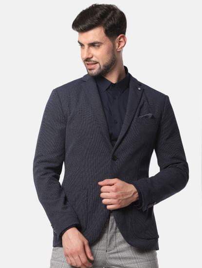 Navy Blue Slim Fit Formal Blazer