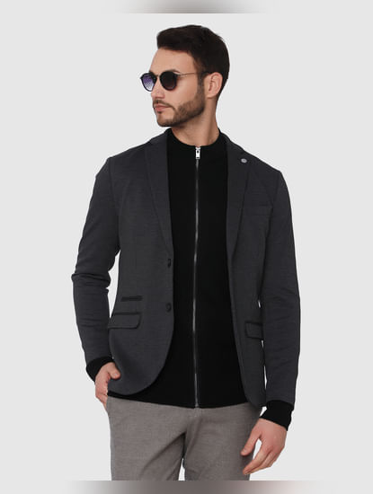 Black Zip Up Cardigan