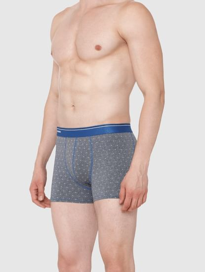 Grey Printed Trunks