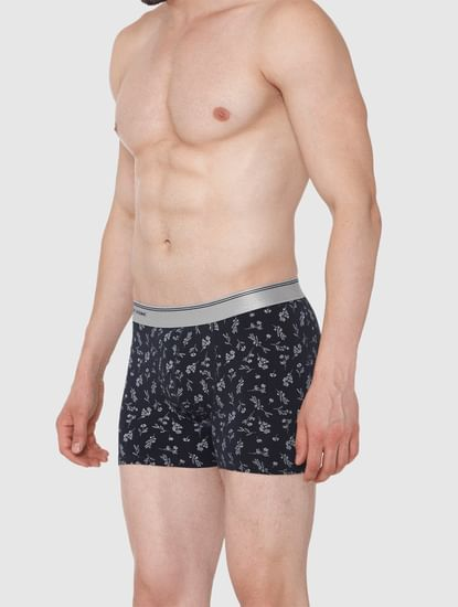 Navy Blue All Over Print Trunks