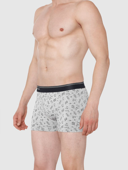 Light Grey All Over Print Trunks