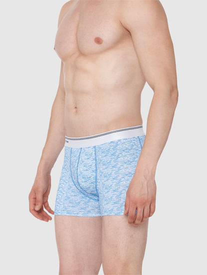 Light Blue Printed Trunks
