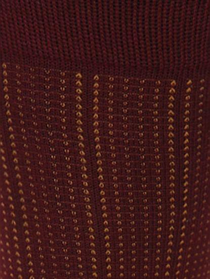 Red Printed Mid Calf Length Socks