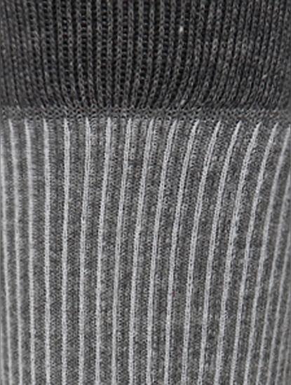Grey Ribbed Mid Calf Length Socks