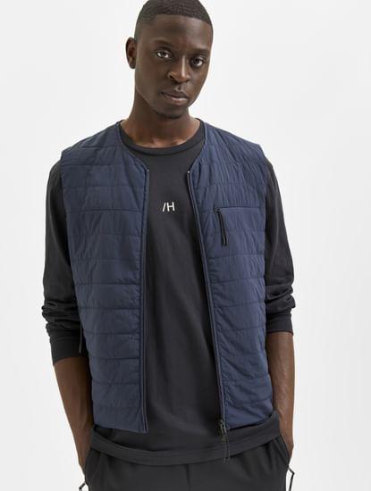 Black Full Sleeves Crew Neck T-shirt