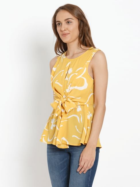 Yellow All Over Print Top