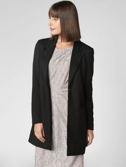 Black Long Blazer