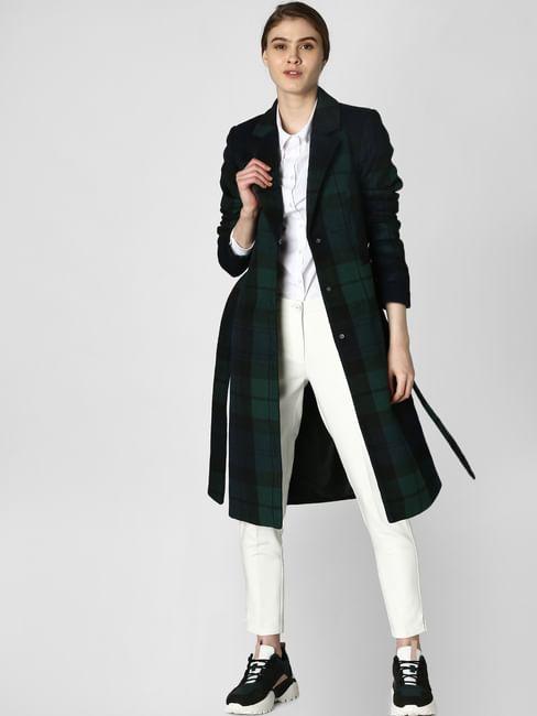 Dark Green Check Coat