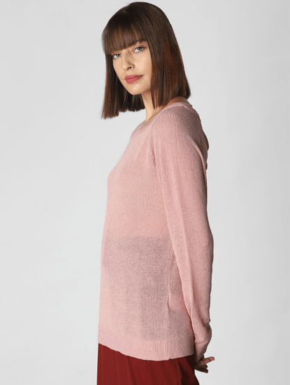 Pink Shimmer Pullover