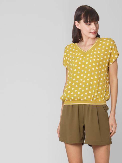 Yellow Polka Dot Top