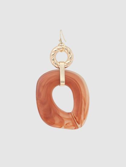 Golden Natural Stone Detail Earrings