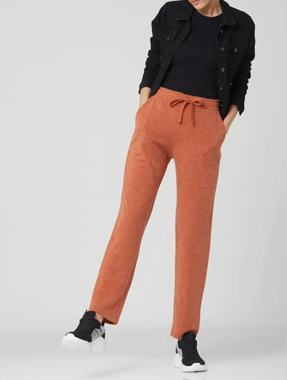 Brown Mid Rise Sweatpants