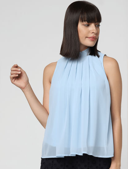 Light Blue Swing Top