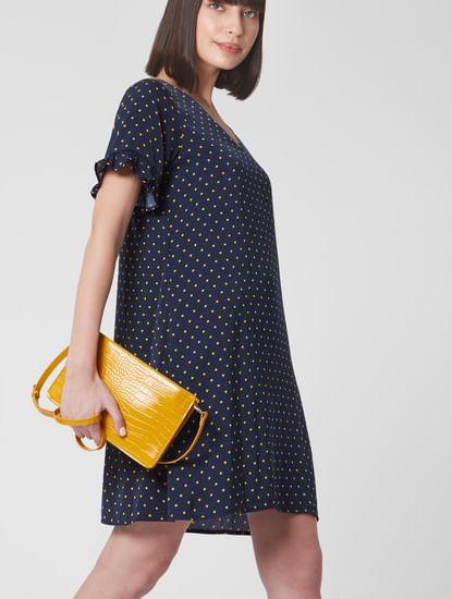 Mustard Reptile Textured Sling Bag