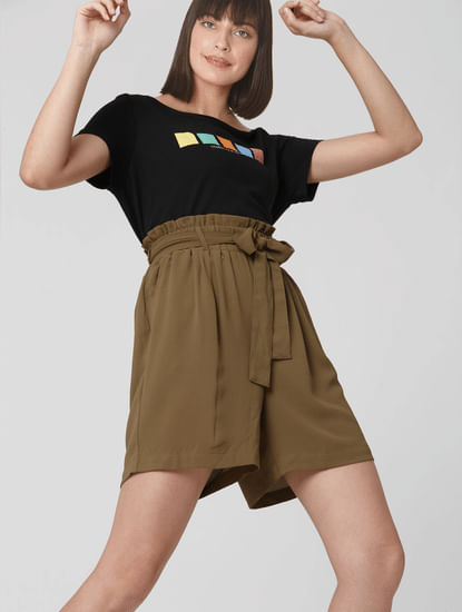 Brown Paper Bag Shorts