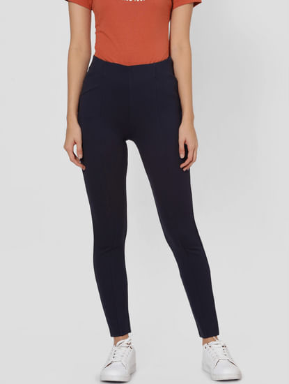 Navy Blue High Rise Leggings