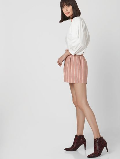 White Puff Sleeves Top