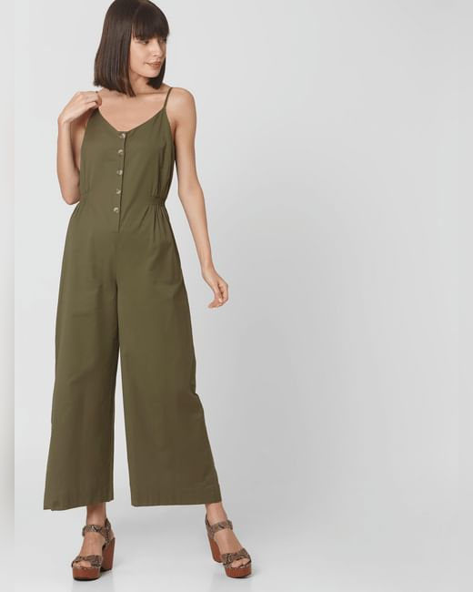 Green Strappy Jumpsuit