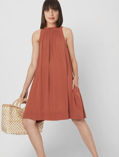 Rust Shift Dress