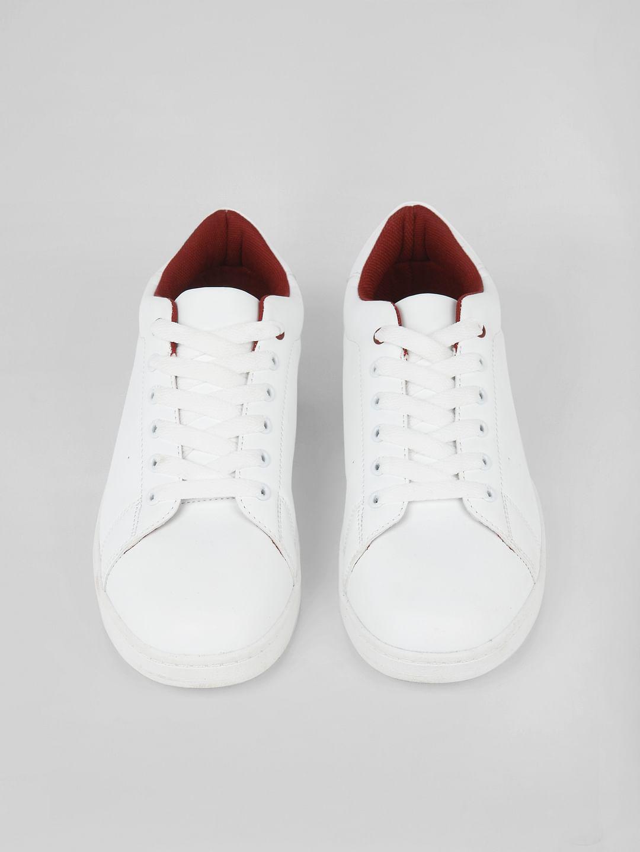 Buy Women White Logo Print Sneakers