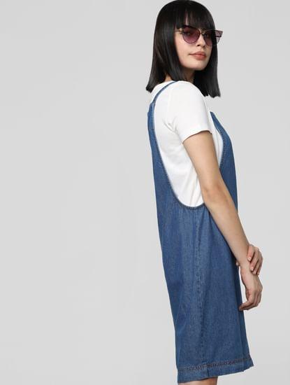 Blue Pinafore Dress