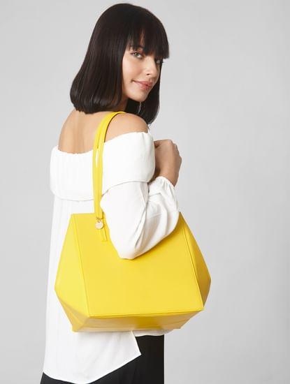 Yellow Boxy Handbag