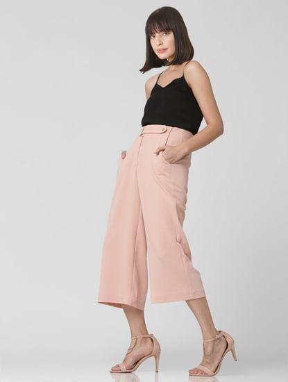 Pink High Waist Culottes