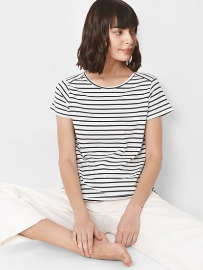 White Breton Striped T-shirt