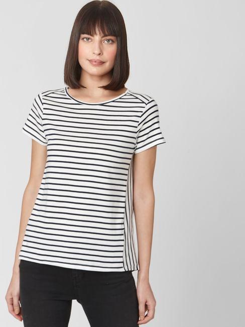 White Breton Striped T-shirt
