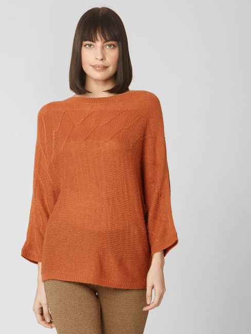Rust Textured Sweater