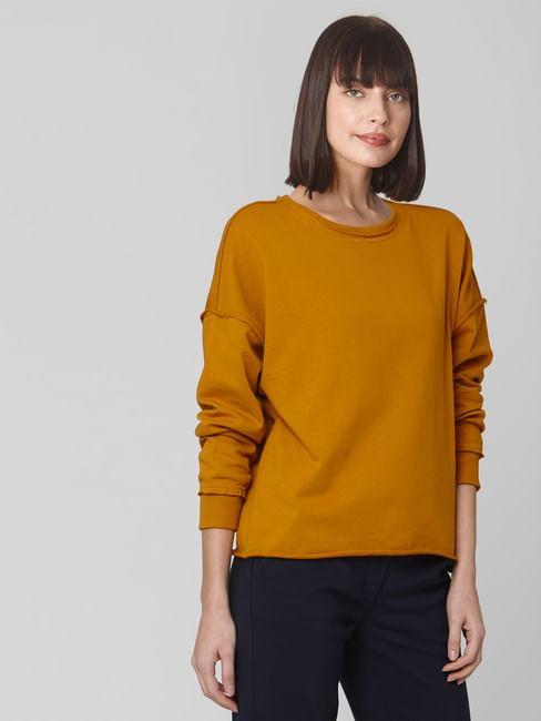 Brown Raw Edge Sweatshirt