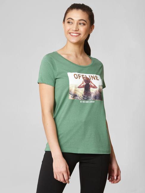 Green Offline Print T-shirt