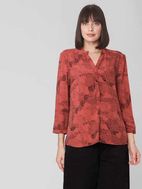 Rust All Over Print Top